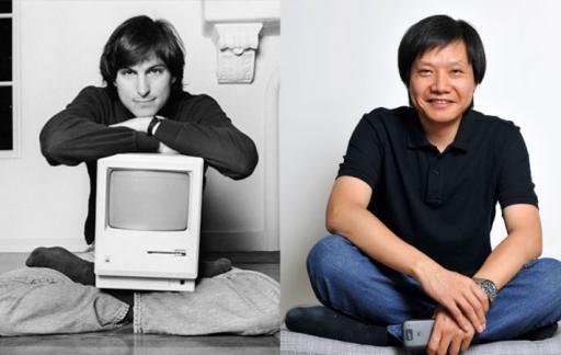 Steve Jobs en Xiaomi-oprichter Lei Jun.