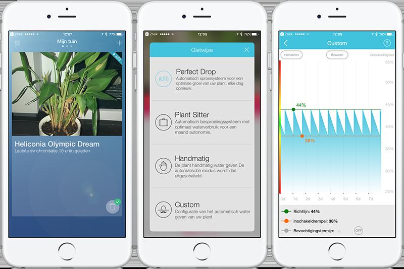 Parrot Pot app: instellingen
