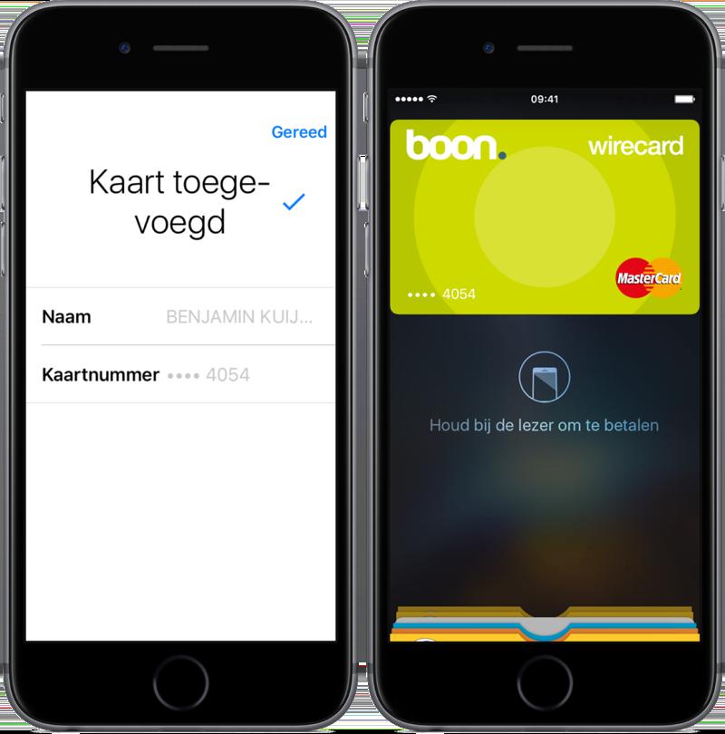 Apple Pay instellen met de boon-app.