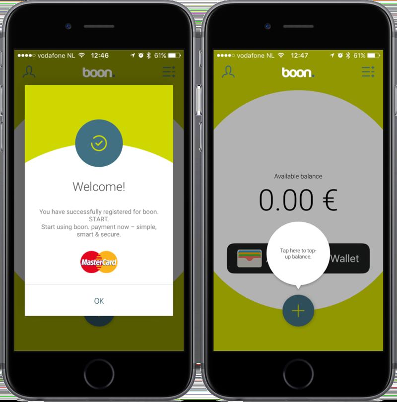 boon-app met welkomstscherm.