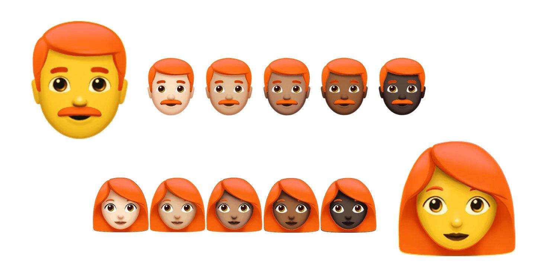 Roodharigen-emoji bij Emojipedia