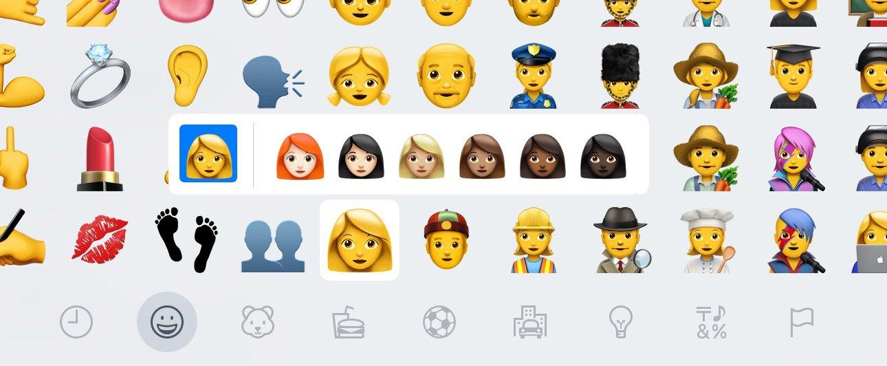 Roodharigen als emoji in Unicode