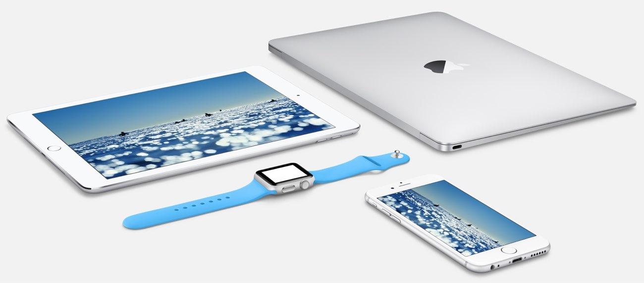 Apple Watch, MacBook, iPad en iPhone.