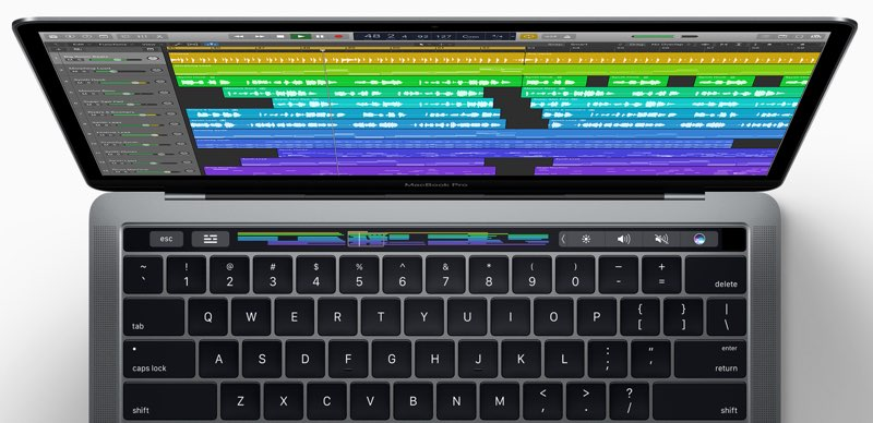 Logic met Touch Bar-support op een MacBook
