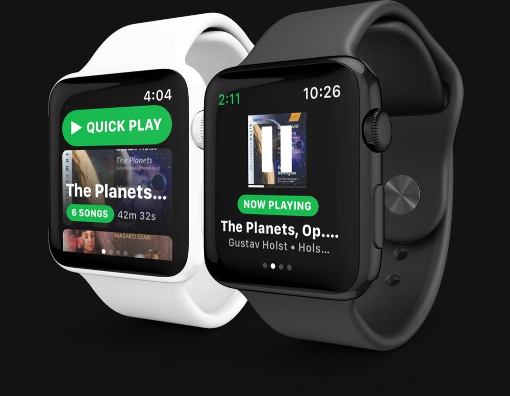 Spotty met Spotify op de Apple Watch.