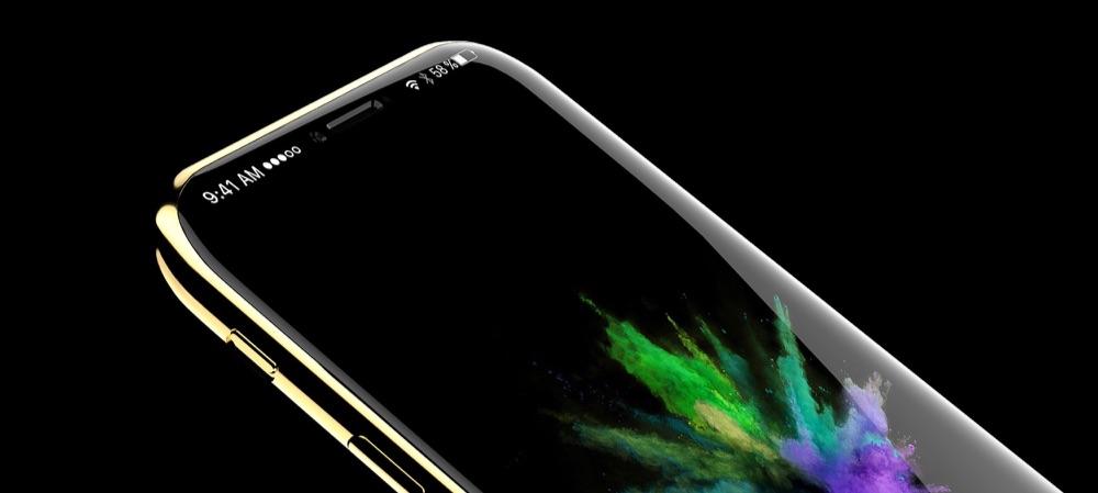 iPhone 8-concept met metalen rand.