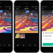 Vine Camera-app op een iPhone