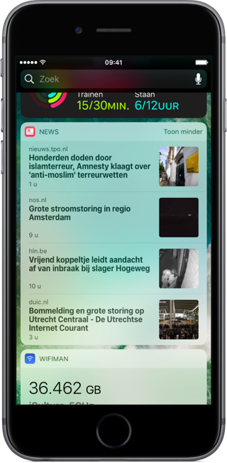 Widget van Apple News.