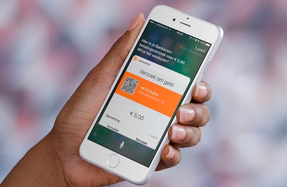 Siri en betaalverzoek op een iPhone via ING.