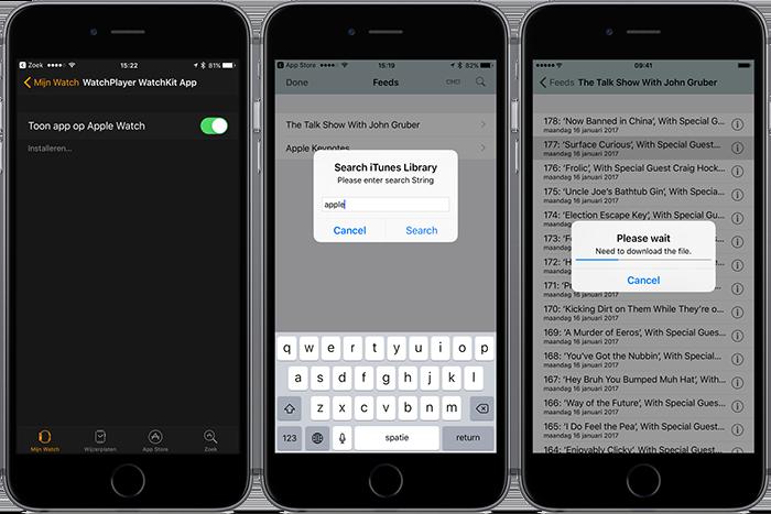 WatchPlayer: podcasts afspelen via Apple Watch-speaker