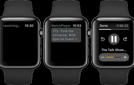 WatchPlayer op de Apple Watch