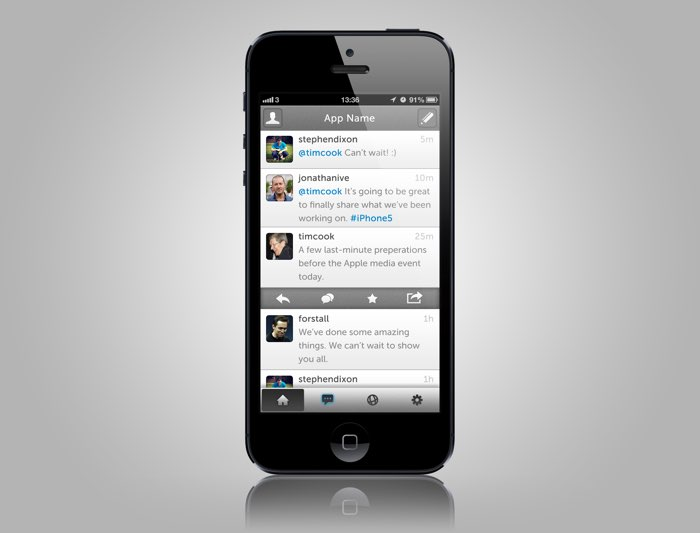 Concept voor App.net iPhone-app
