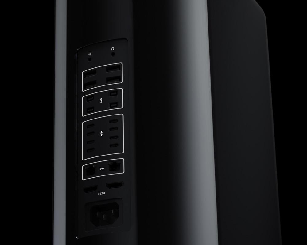 Mac Pro-concept met aansluitingen.