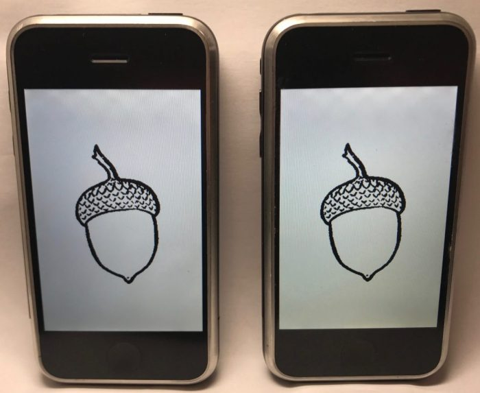 iPhone prototype met Acorn OS.