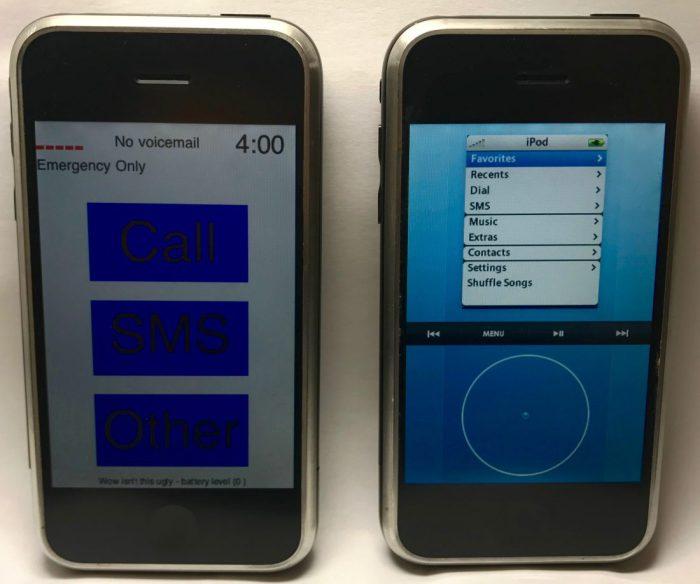 iPhone prototype P1 en P2.