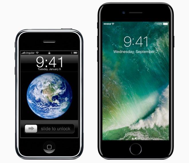iPhone eerste generatie vs iPhone 7