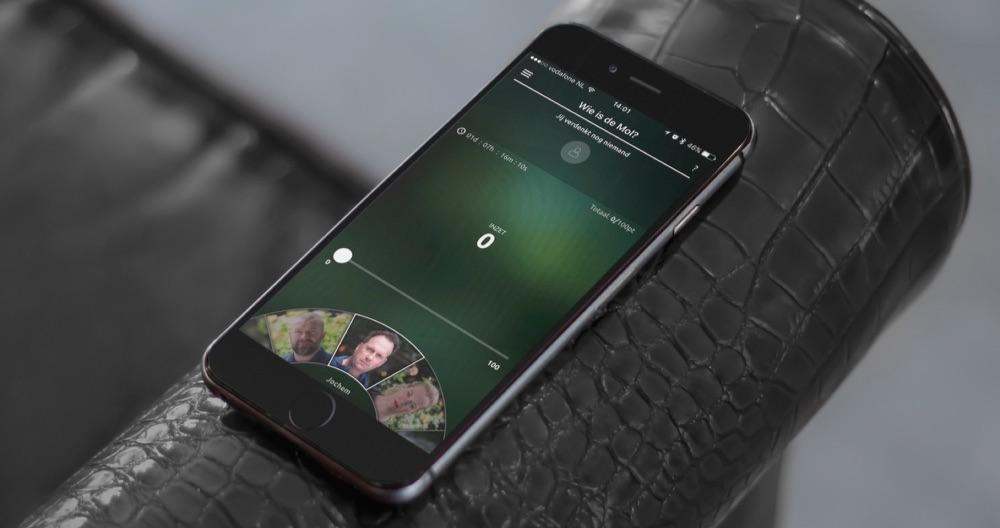 Wie is de Mol? spelen op je iPhone.