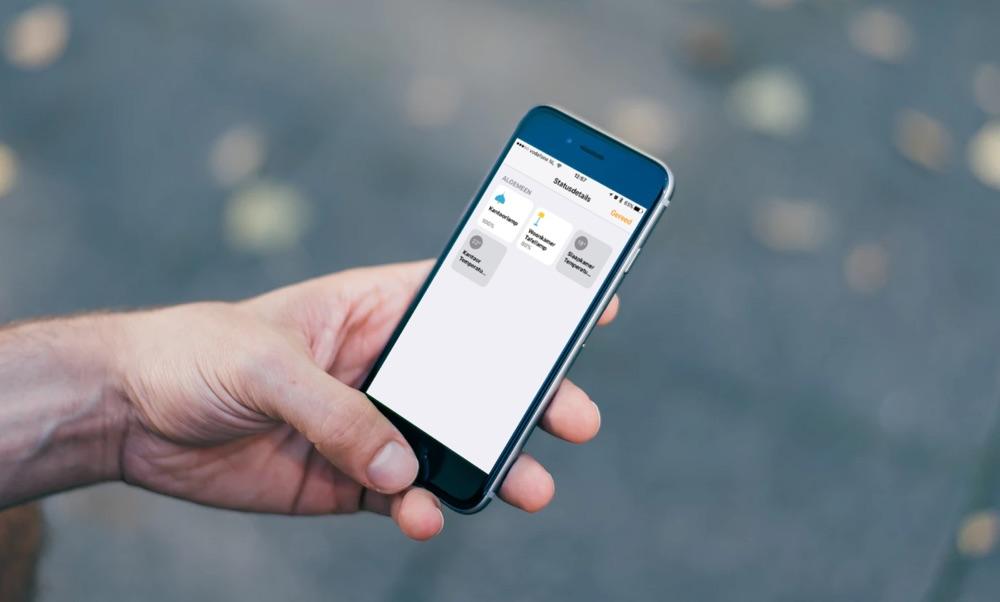 Statusdetails van HomeKit-accessoires in de Woning-app.