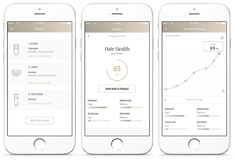 Withings haarborstel-app op de iPhone