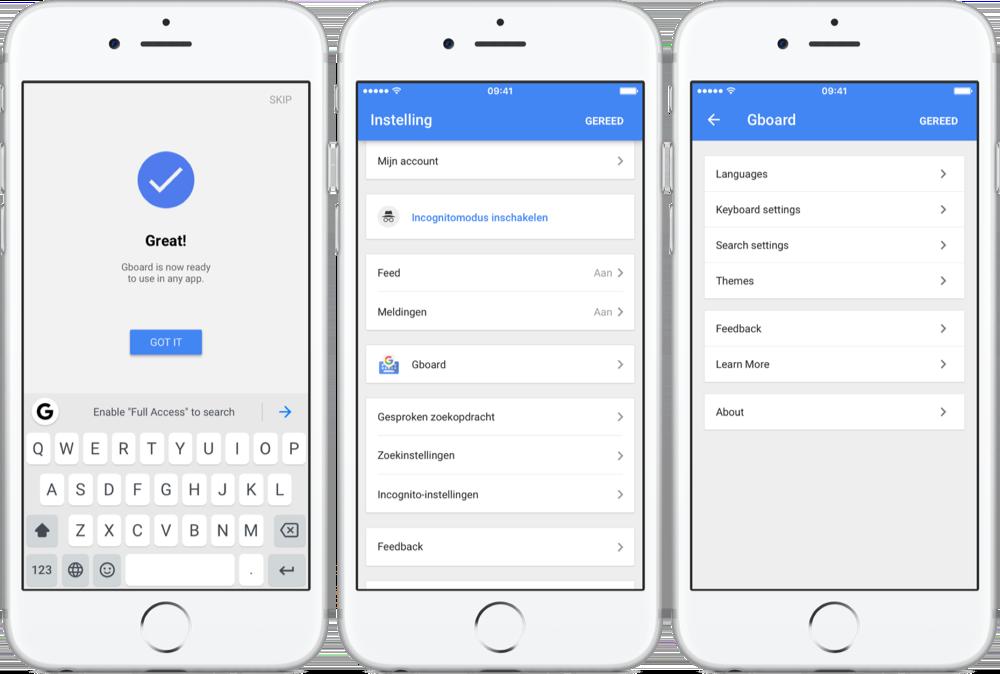 Google's Gboard-app nu standaard in Google-app.