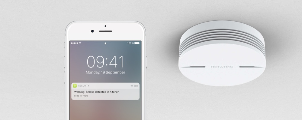 Netatmo Smart Smoke Alarm.