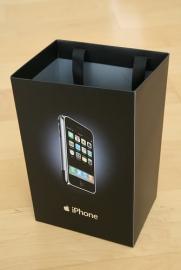 iPhone tasje van de Apple Store.