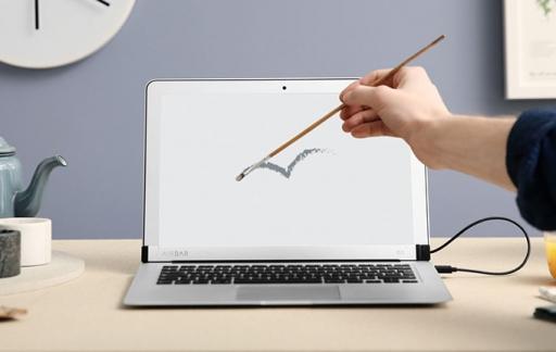 AirBar op de MacBook Air
