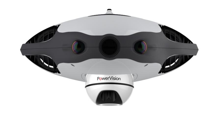 PowerRay camera met drone en FishFinder
