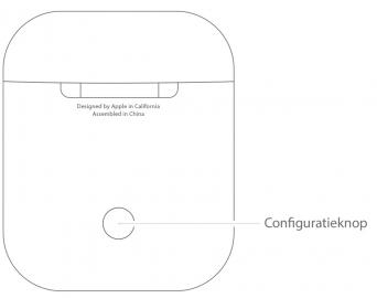 AirPods oplaadcase met configuratieknop.