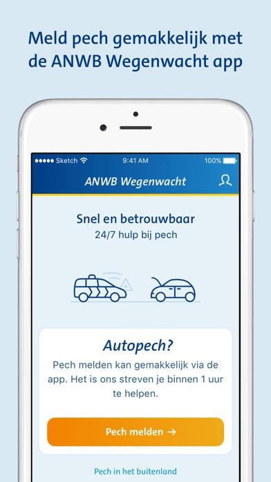 Wegenwacht Pechhulp-app van ANWB.