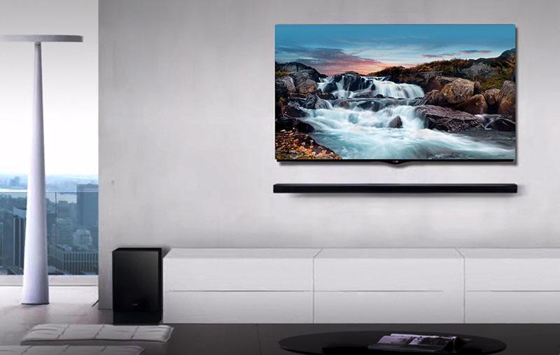 Huiskamer met LG-televisie