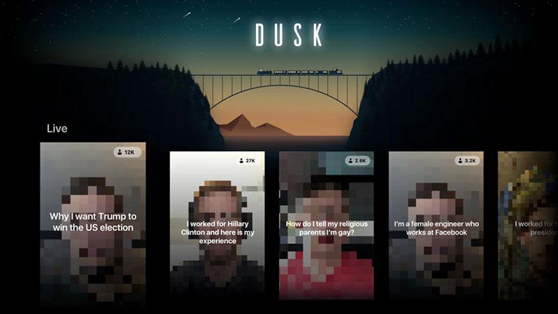 Dusk: anoniem livestreamen