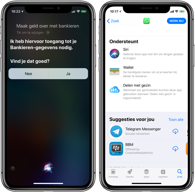 Siri met apps van derden