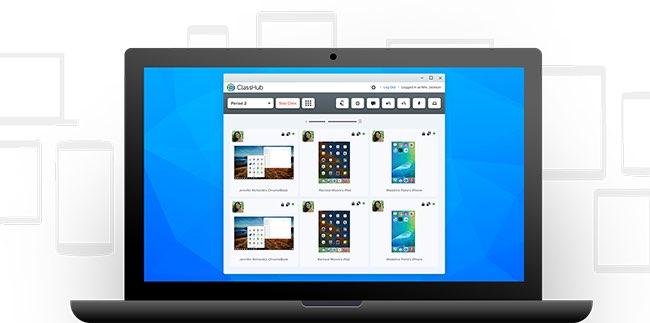 ClassHub op een MacBook