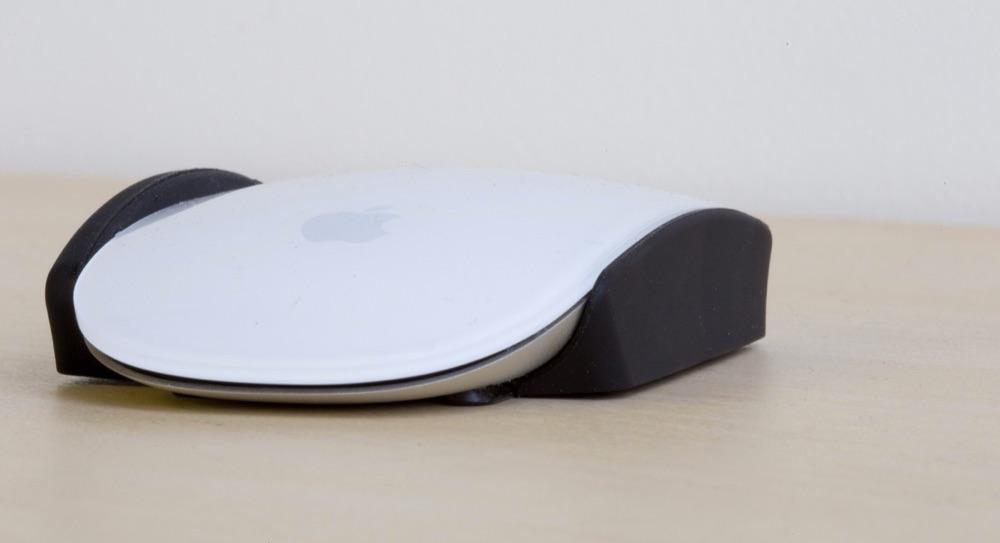 Voorkant van Magic Mouse met MagicGrips.