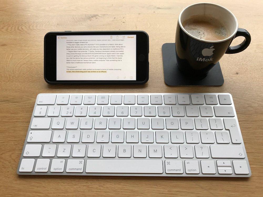 Apple Watch-experiment: blog geschreven op iPhone