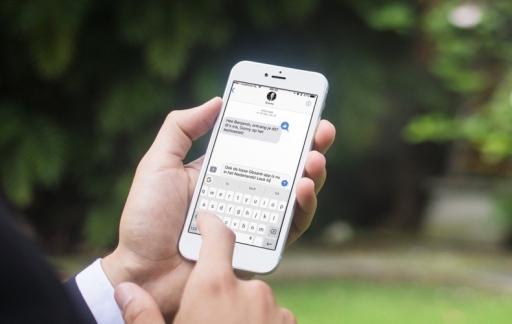Gboard-app met toetsenbord in Nederlands.