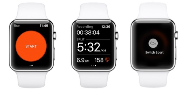 Strava Apple Watch met workout.