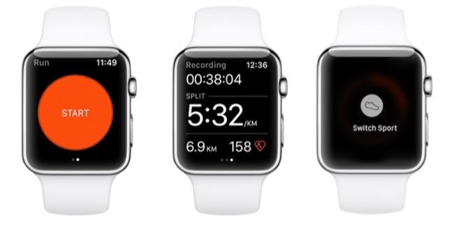 Strava Apple Watch met workout.