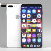 iPhone 8 concept met functiepaneel laat zien wat er mogelijk is