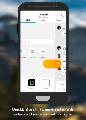 Skype krijgt nieuw zoekpaneel voor links, nieuws, restaurants