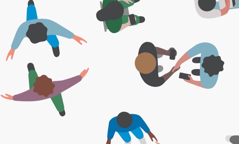 WWDC 2017-uitnodiging met knuffel en handenschudden.