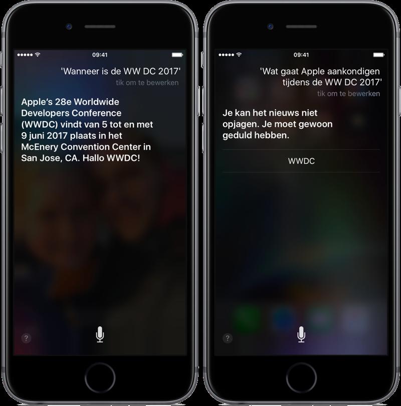 WWDC 2017 met Siri.