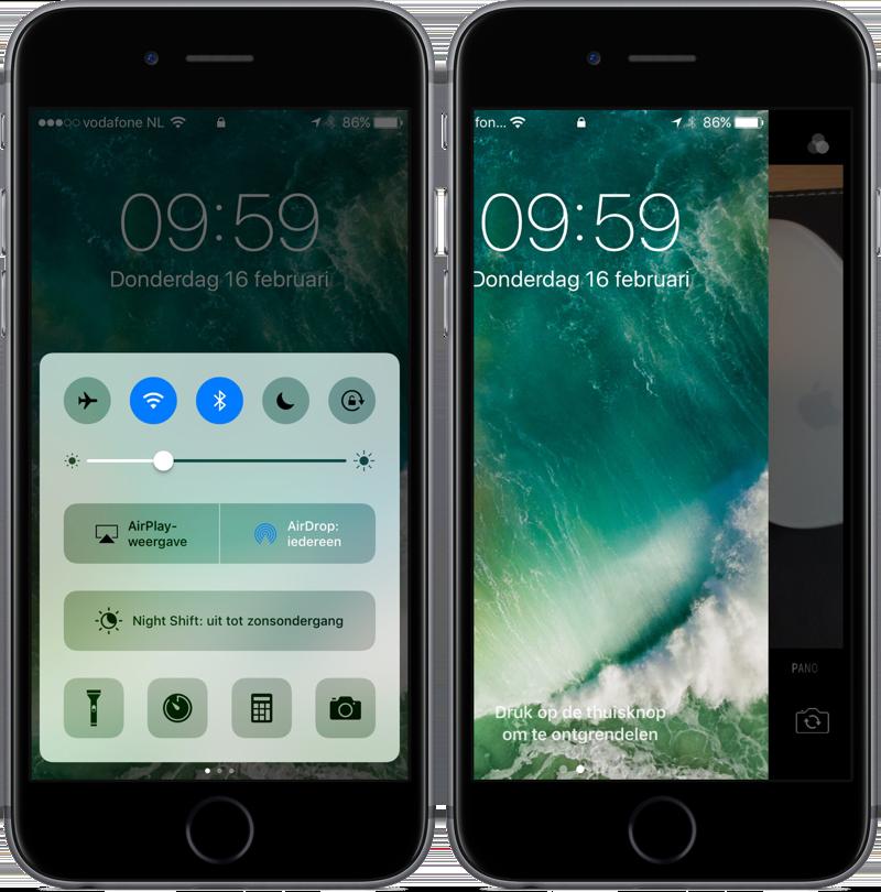 LED-flitser en zaklamp snel uitschakelen op iPhone.