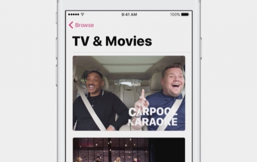 Apple Music TV & Movies zoals Carpool Karaoke.