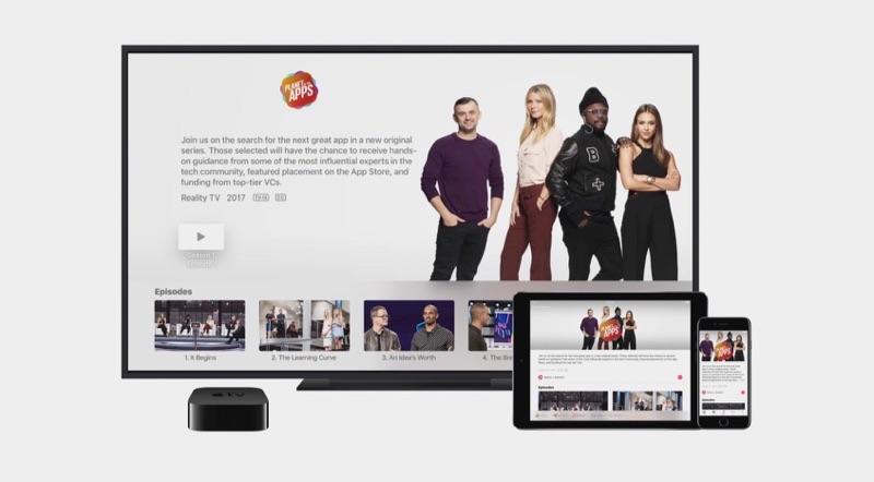 Planet of the Apps op de Apple TV, iPhone en iPad.