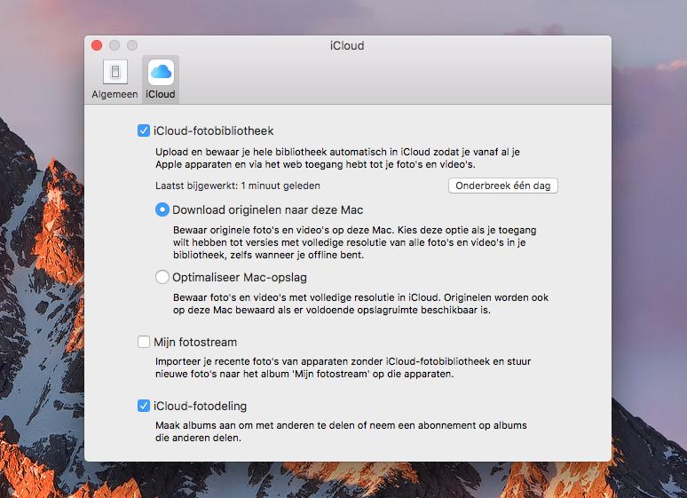 Mac: iCloud-fotobibliotheek lokaal downloaden