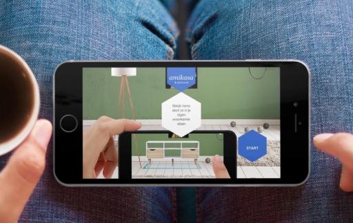 Amikase & bol.com met AR en VR-app.