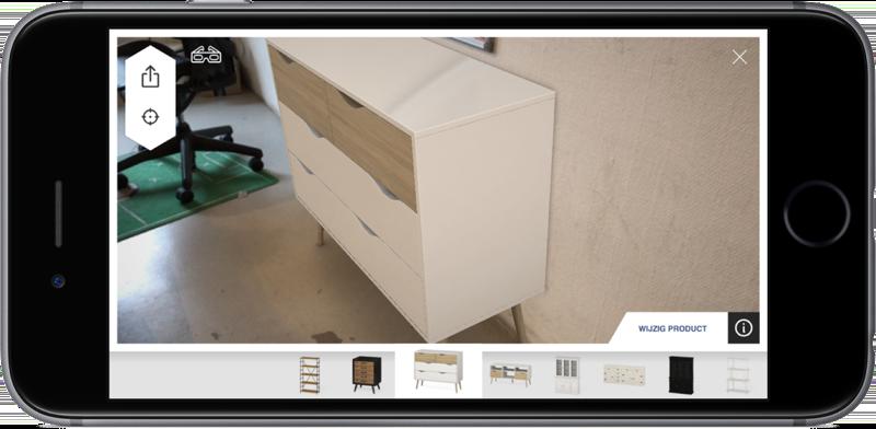 Amikase & bol.com met meubel in je eigen huis.