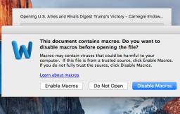 Mac-malware met macro's